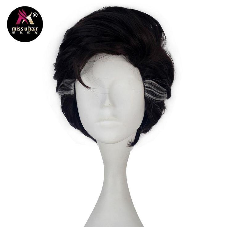 Miss U Cheveux Courts Ondulés Brun couleur avec le Point Culminant Blanc Cheveux Cosplay Costume Perruque pour les Hommes Adultes dans Synthétique Aucun-Dentelle Perruques de Extensions de cheveux et Perruques sur AliExpress.com   Alibaba Group