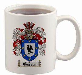 $15.99 Garcia Coat of Arms Mug / Family Crest 11 ounce cup