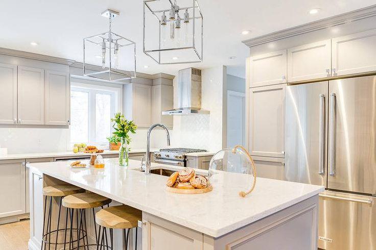 Light gray shaker cabinets