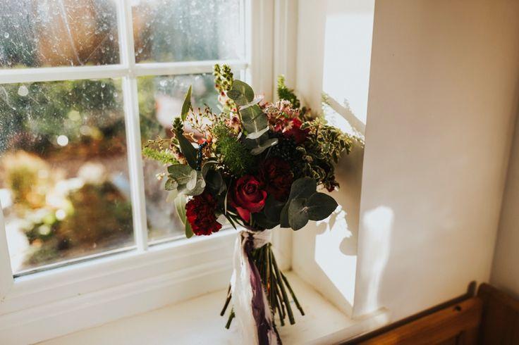 Beautiful rustic bouquet for a winter wedding. Photo by Benjamin Stuart Photography #weddingphotography #weddingbouquet #weddingflowers #bridalbouquet #winterwedding #handtied #flowers