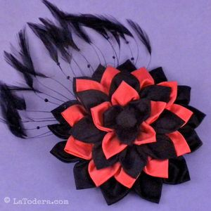 Fabric Flower Fascinator Pattern by La Todera. DIY fabric accessories, fabric flowers, and other fabric manipulation patterns for sale at www.latodera.com.