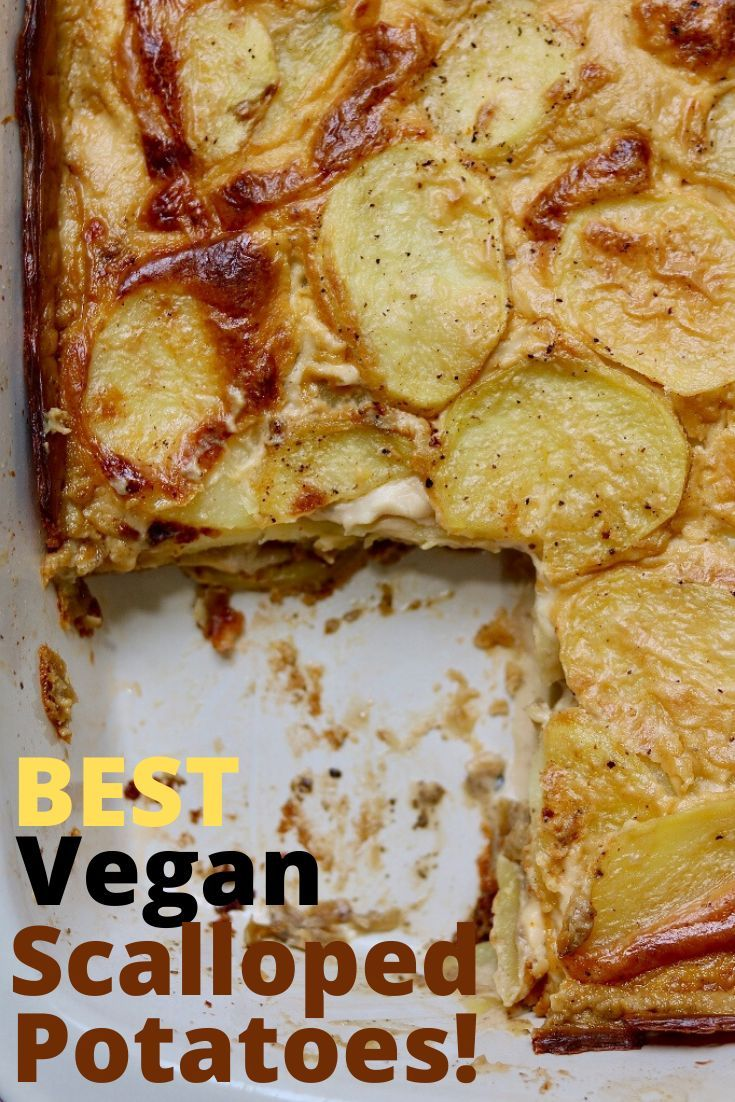 Vegan Scalloped Potatoes The Cheeky Chickpea In 2020 Vegan Scalloped Potatoes Recipes Vegan Side Dishes