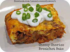 Cheesy Chorizo Breakfast Bake - Low Carb