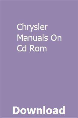 Chrysler Manuals On Cd Rom | etmeidare | Portable generator