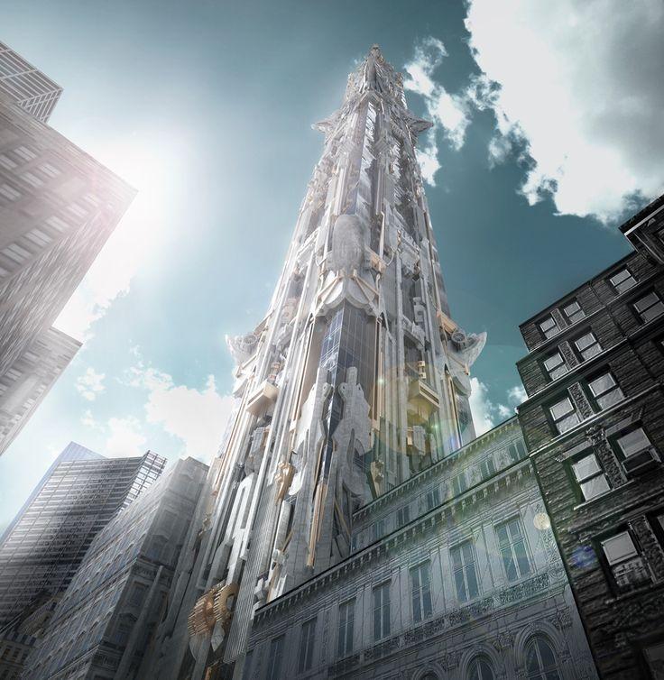 Galeria - Arranha-céu de Mark Foster Gage leva a arquitetura gótica a um outro nível - 4