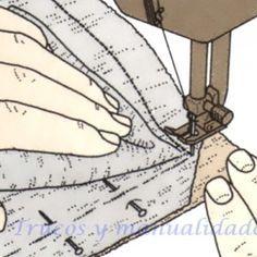 Como se hace una costura de una esquina 3