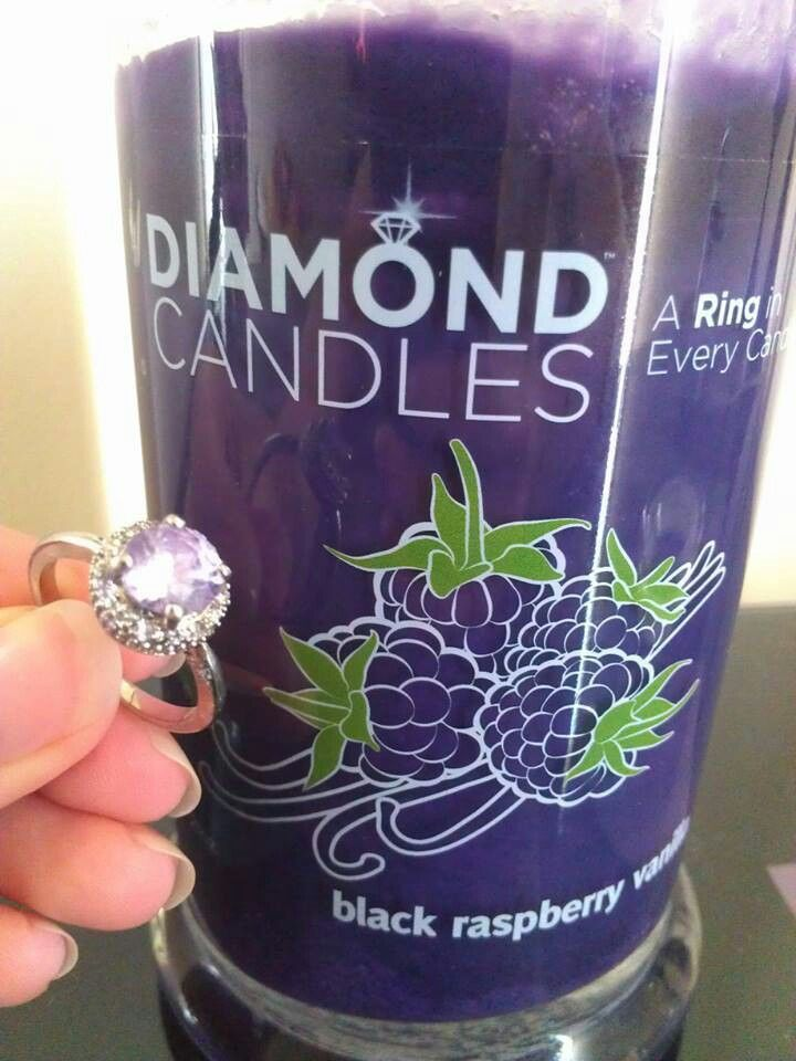 Diamond Candles ~ Choose from several amazing scents and each candle holds a ring ranging in value from $10 - $5,000. http://www.diamondcandles.com/