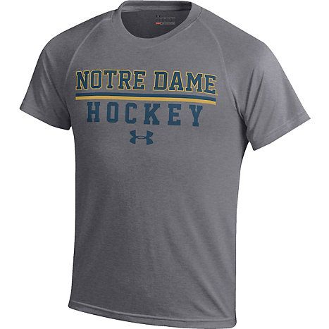Under armour university of notre dame hockey youth t shirt for Notre dame youth t shirts