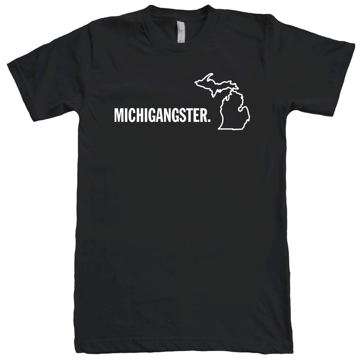 Michigangster T-Shirt T-Shirt, Gift Ideas, Green,  Tees Shirts, T Shirts, Pleasant Peninsula, Michigan Awesome, Michigangster Tshirt, Awesome Tshirt