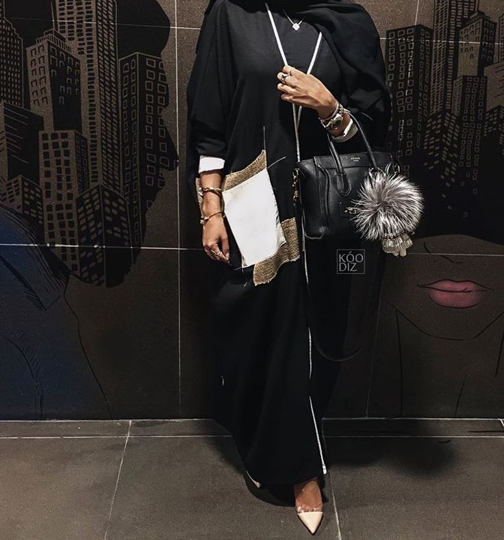Beautiful in Black — I am in LOVE with Hind Almadani's abaya style!! So...