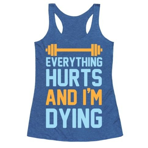 This funny workout shirt is great for the lazy nerds who are trying to get in shape but are just getting their ass kicked by cardio and lifting weights like 'everything hurts and I'm dying.' This gym shirt is perfect for fans of lazy jokes, gym jokes, fitness shirts and lifting shirts, also parks and rec!