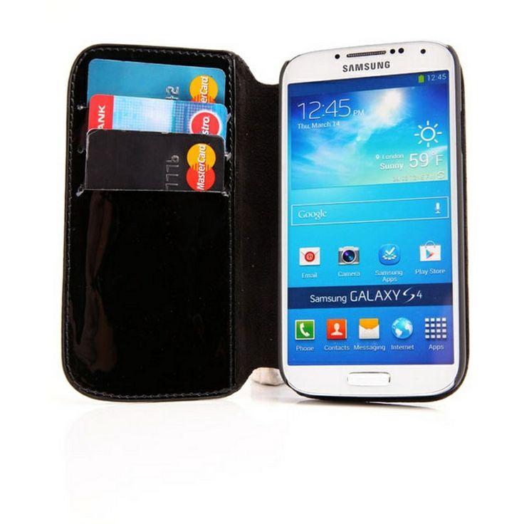 Samsung Galaxy S4 i9500, i9505 DC Lucca Washed Läderväska - Svart