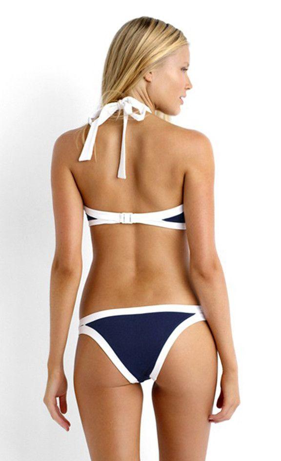 atlantica navy halter bikini