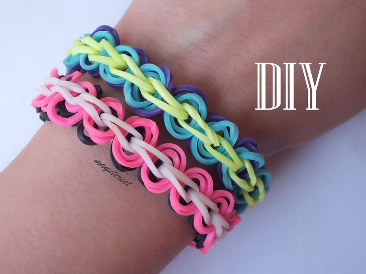 DIY Pulsera de gomitas con círculos / Rubber band bracelet with circles
