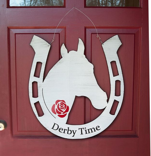 Derby Time Horseshoe Door Decoration Express You Inner Derby
