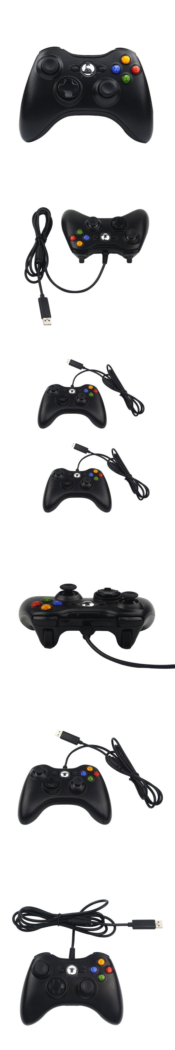 USB Wired Game Controller Shaking Gamepad Joypad Joystick For Xbox 360 Controller Slim Accessory PC Computer for Raspberry Pi 3