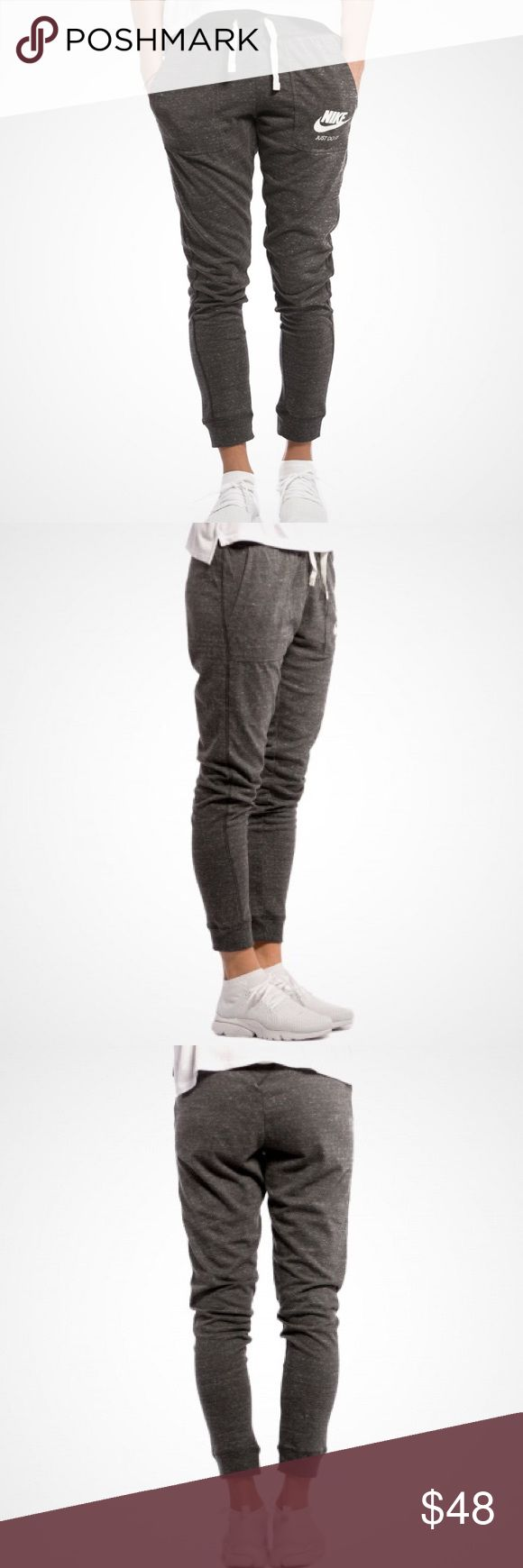 """Nike Grey Gym Vintage Jogger Pants •The Nike Sportswear Gym Vintage Women's Joggers are made for all-day comfort and a fit that moves with you. Blended cotton fabric has a super-soft, lightweight feel. 60% cotton/40% recycled polyester.  •Size XS, true to size. Inseam approx 28.5"""".  •New with tag.  •NO TRADES/HOLDS/PAYPAL/MERC/VINTED/NONSENSE. Nike Pants Track Pants & Joggers"""