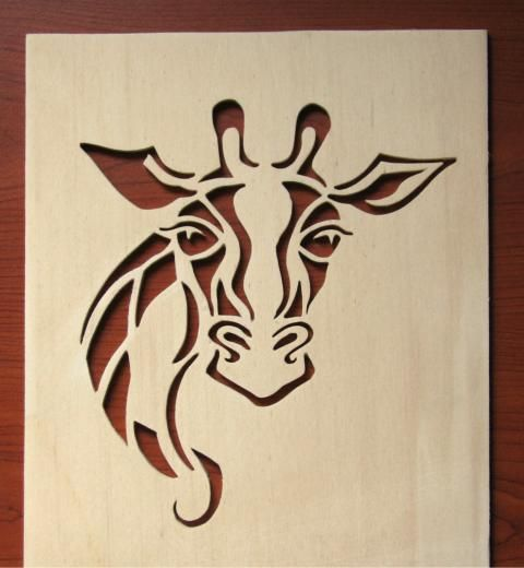 free scroll saw patterns | Giraffe Van Gogh! - my first portrait