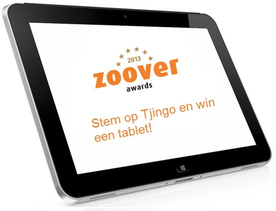 Stem op Tjingo en win een tablet! http://tjingo.nl/zoover-awards-2013