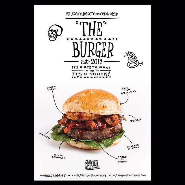 ¡Disfruta de una deliciosa Burger de El Camino en la explanada de Las Torres Moradas de 12PM a 3PM! ¡No faltes!