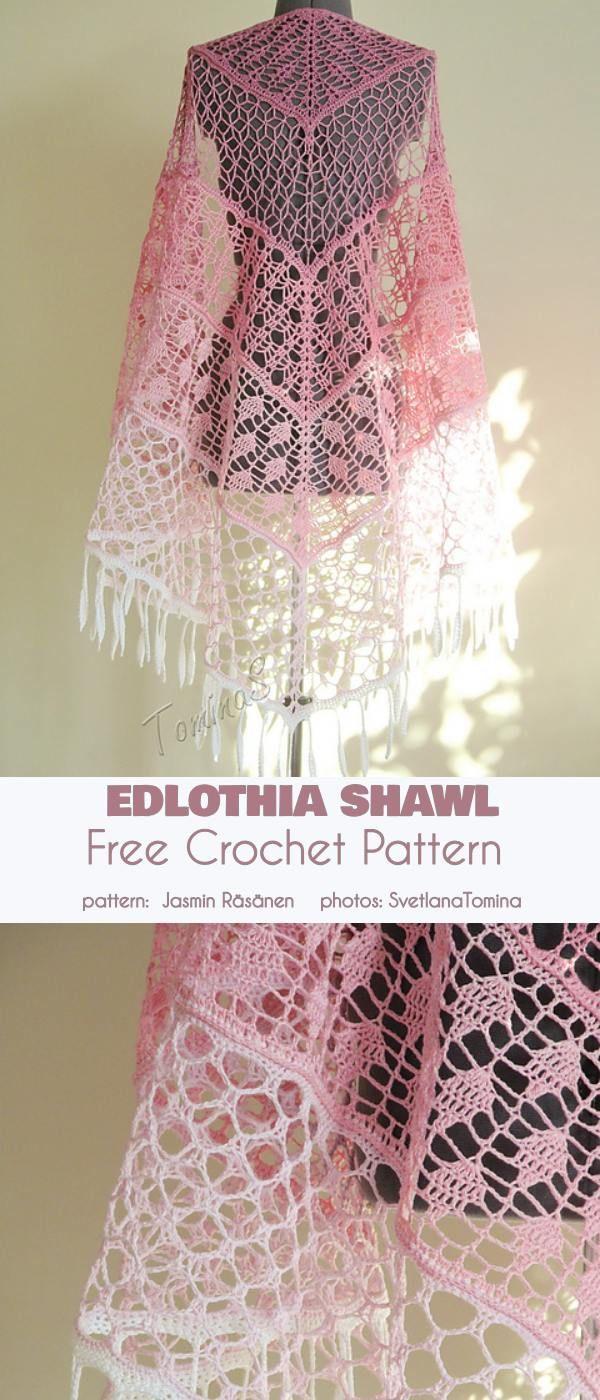 Edlothia Shawl Free Crochet Pattern
