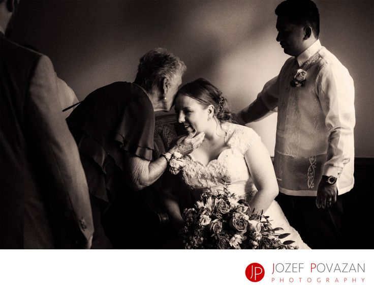Best Award winning Vancouver wedding photographers Povazan Photography - Brockhouse Wedding Photographers Povazan Photography: Brockhouse Wedding Photographers Povazan Photography capturing candid moments of bride meeting her family at this Tudor house venue location. Live your day you like it. Location: 3875 Point Grey Rd, Vancouver, BC V6R 1B3.