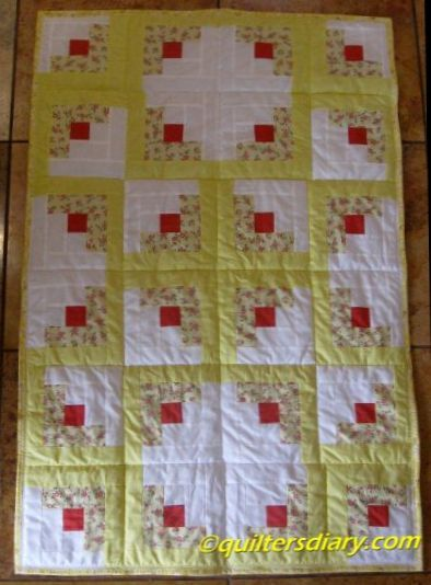 Log Cabin Baby Quilt post image