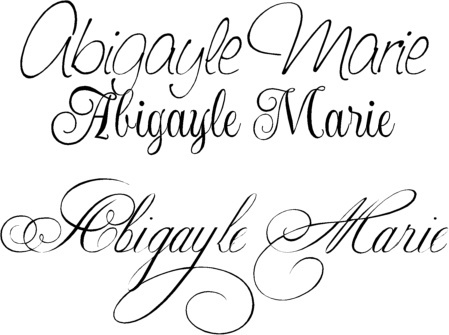 Cursive tattoo fonts. Planning out the matching Mother Daughter ...