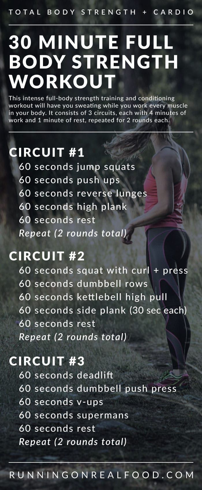 30 Minute Full Body Strength Training Workout For The Gym Strength And Conditioning Workouts Full Body Strength Training Workout Full Body Strength Workout