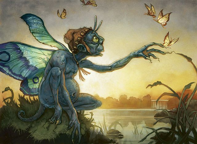 According to some legends, some Fairy women in Ireland, will at times try to swap their own deformed children, with healthy children, whom they steal from the mortal world. The Fairy child left in place of the human child, is generally known as a changeling, and is said to possess special powers