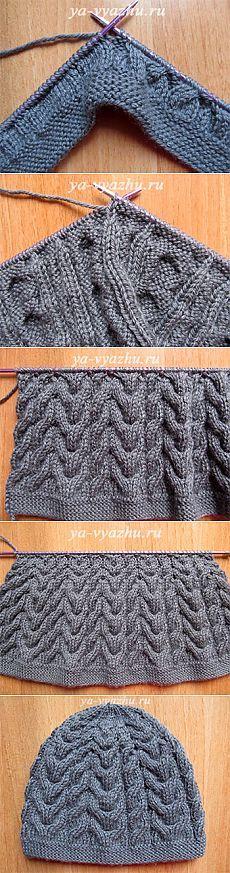 Как связать шапку и шарф спицами (мастер-класс) | Вязальное настроение...