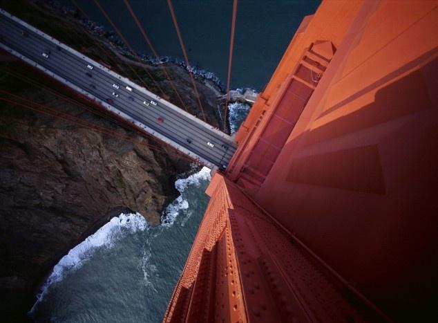 Golden Gate Bridge from heaven