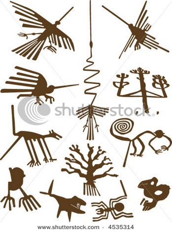 stock vector : Nazca Lines....they are really amazing !
