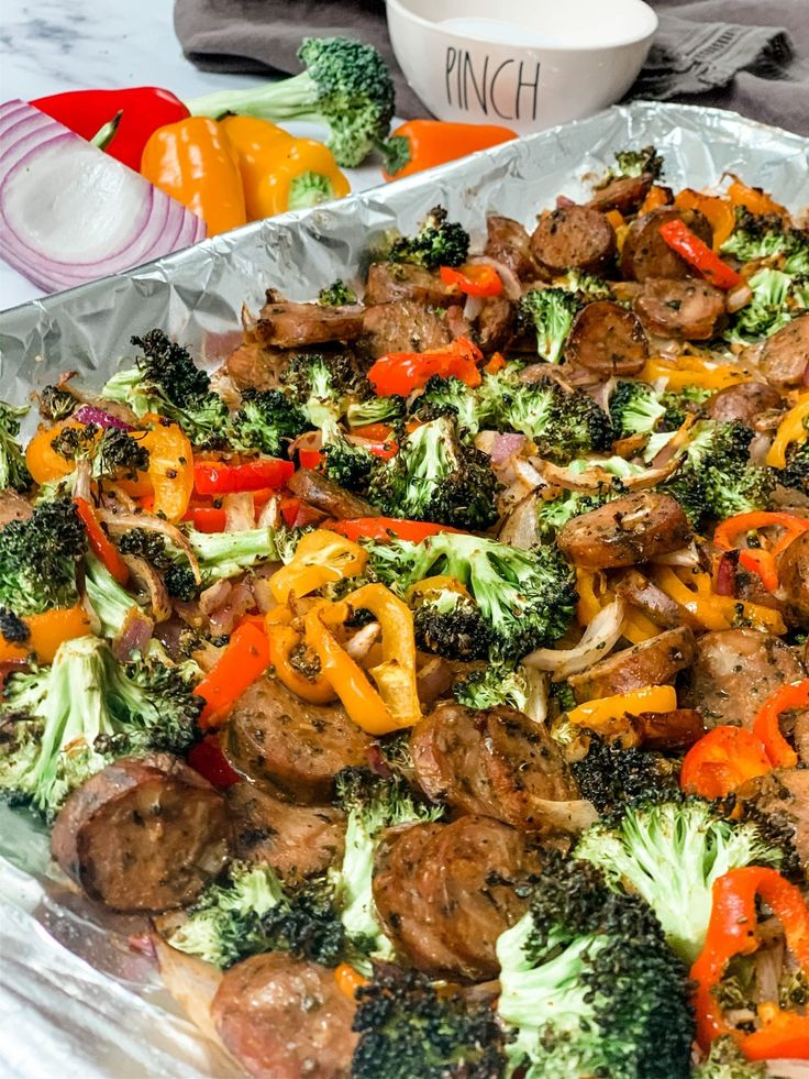 Easy sheet pan sausage and veggies recipe in 2020