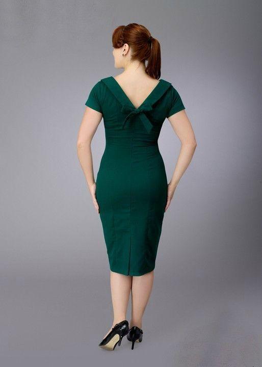 Elise Vintage Inspired Pencil Dress  - Custom Sizing