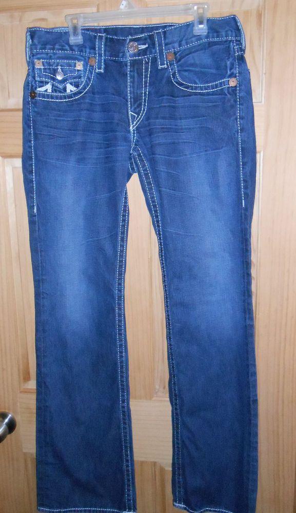 Men True Religion Rainbow Billy Jeans Waist 32 Length 34