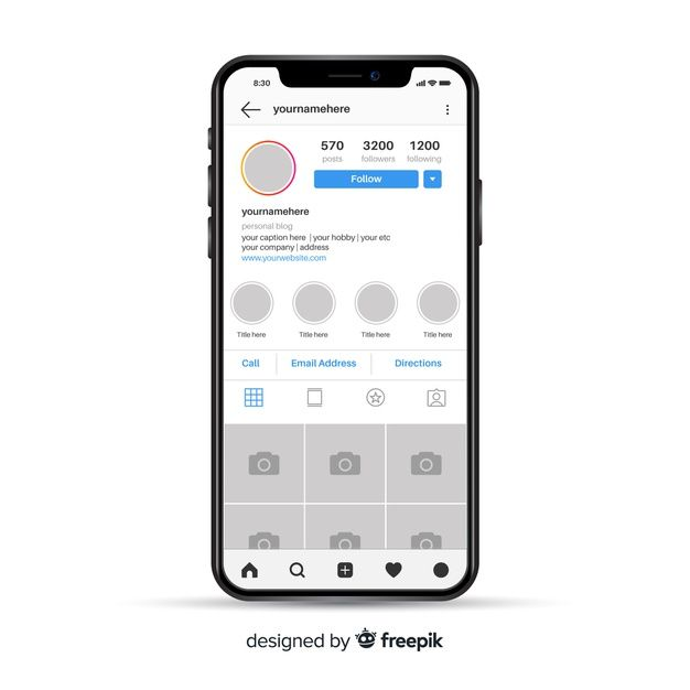 Download Template Of Instagram Photo Frame On Iphone for free in 2020   Instagram frame. Vector free. Instagram