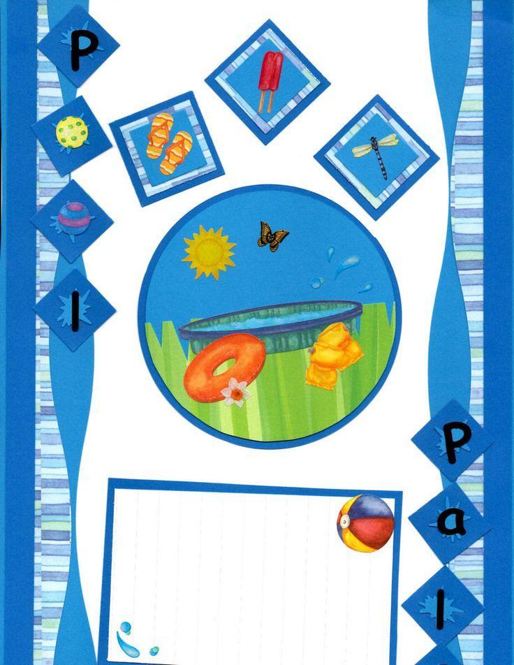 Premade Scrapbook Borders W/Creative Memories-POOL PALS