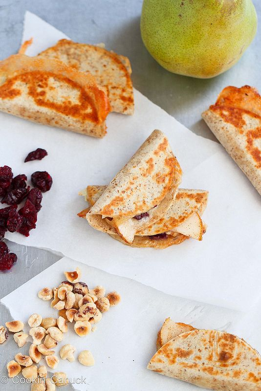 Mini Brie and Pear Appetizer Quesadillas by Cookin' Canuck