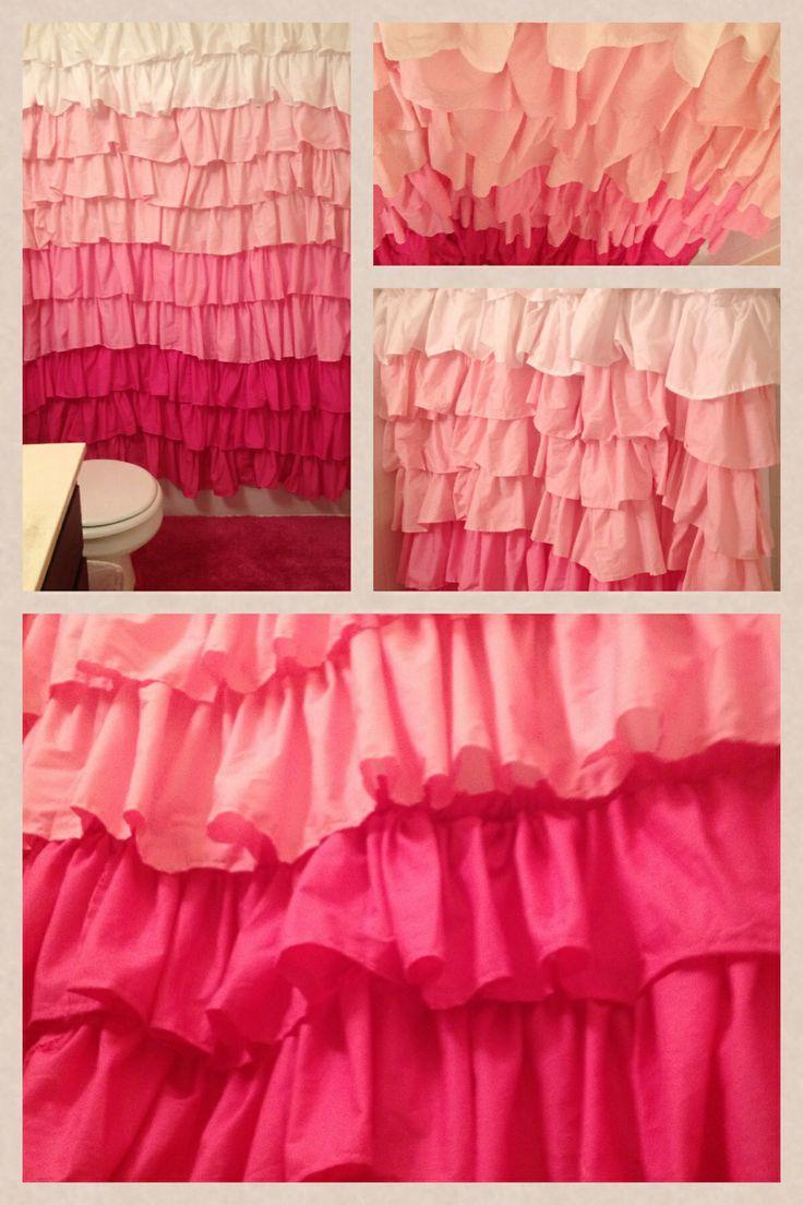 Pink Ruffle Shower Curtain Rickevans Homes