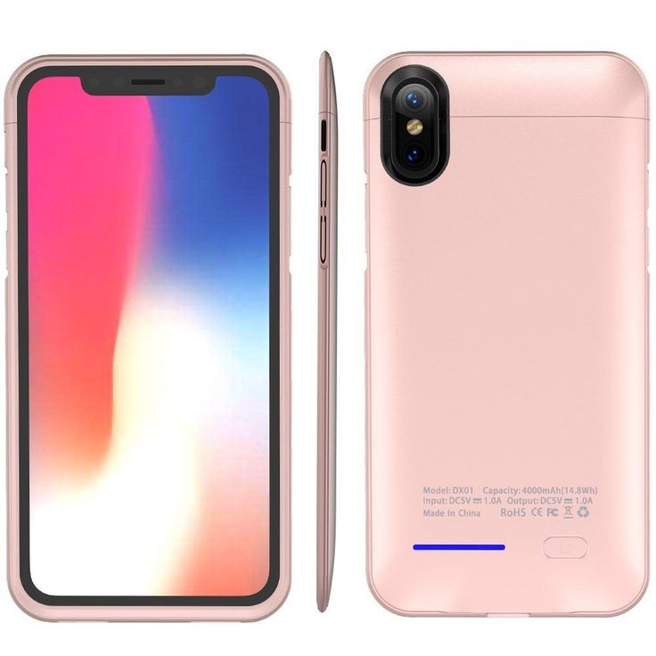 Apple Iphone X Portable Extended Battery Case 4000Mah & Magnet Bracket Rose Gold #DealsToday