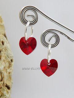 Ellys Shop: Cercei argint si swarovski inimi