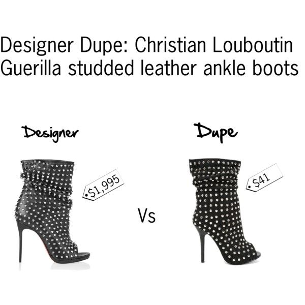 christian louboutin shoes for men replica - Designer Dupe: Christian Louboutin Guerilla studded leather ankle ...