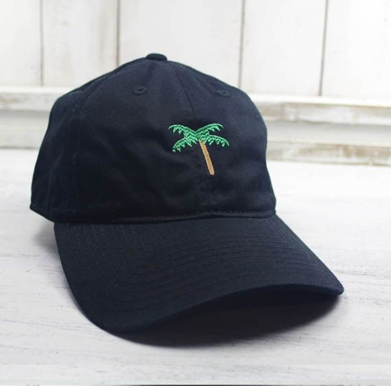 Palm Tree Emoji Dad Hat Embroidered Baseball Cap Curved by REALEST