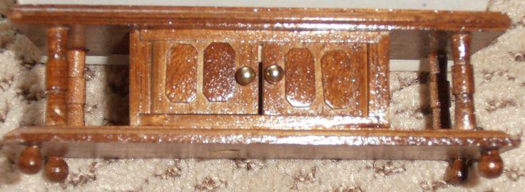 Vintage Dollhouse Chadwick Miller Miniature Handmade Coffee Table Doors Open NEW | eBay