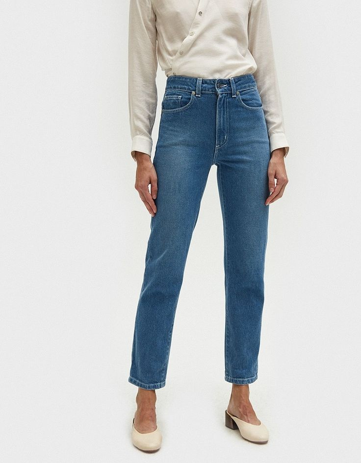 NOTE: These jeans run small. Size up one size for best fit.  Vintage-inspired jeans from NEED in Isla. Medium wash. High rise. Zip fly with top button closure. Classic five-pocket styling. Satin-finished silvertone buttons and rivets. Back yoke. Gently