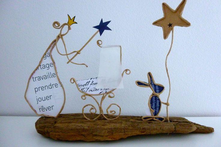 La bonne fée - figurines en ficelle et papier                                                                                                                                                      Plus