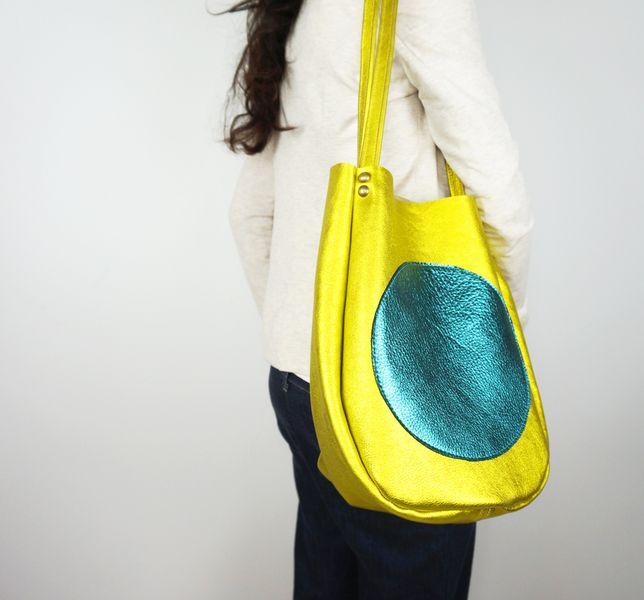 Metallic Leather Tote Bag - Carry-All Shoulder Bag from Neroli Handbags by DaWanda.com