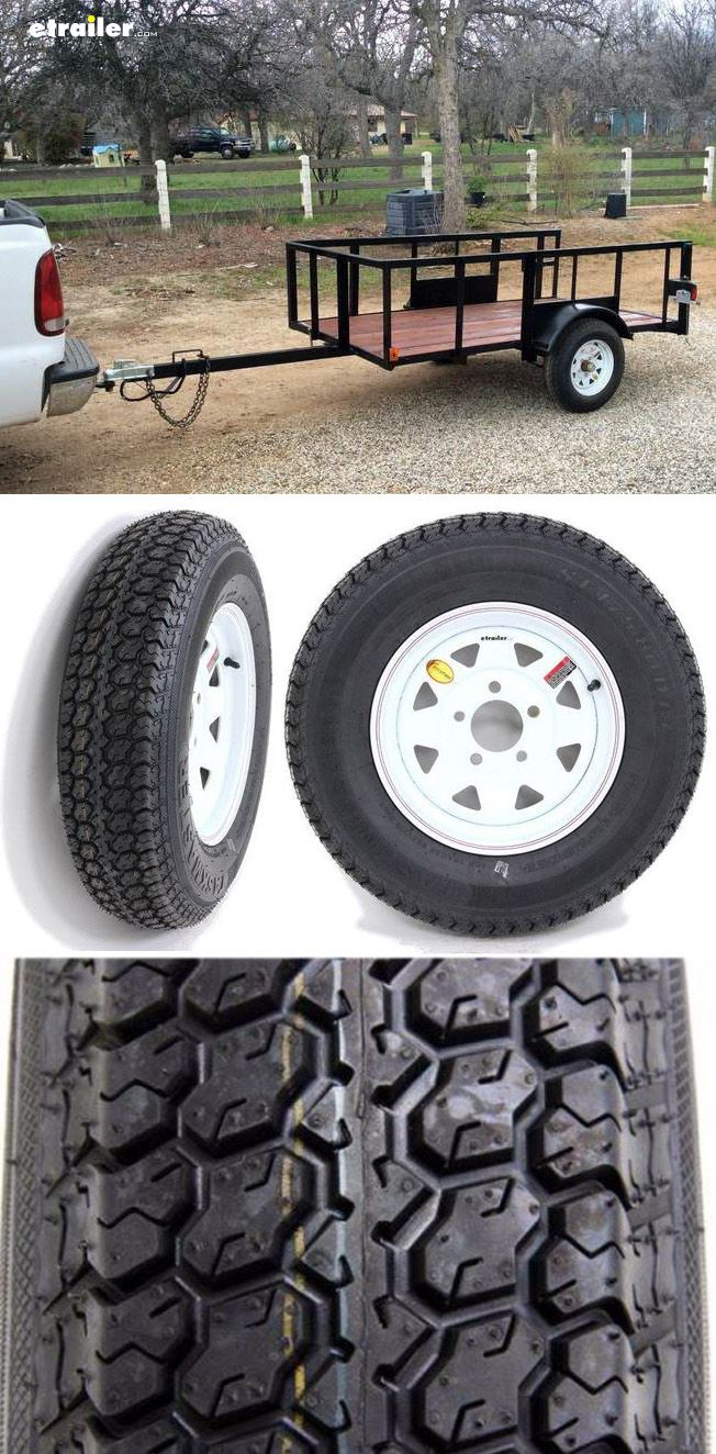 Upgrade your trailer tires with durable aluminum, lightweight, and rustproof Taskmaster tires. Tire-and-wheel assembly is ideal for boat trailers, stock trailers, utility trailers, and campers
