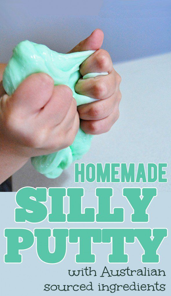 Homemade Silly Putty Recipe with Australian ingredients Pin